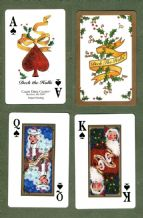 Collectable Christmas  playing cards Deck the Halls